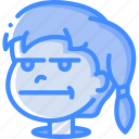 avatars, bored, cartoon, emoji, emoticons, girl icon