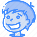 avatars, boy, cartoon, emoji, emoticons, happy icon