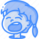 avatars, cartoon, emoji, emoticons, girl, yawn icon