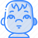 avatars, baby, cartoon, emoji, emoticons icon