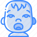 avatars, baby, cartoon, emoji, emoticons, tired icon