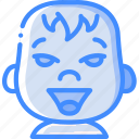avatars, baby, cartoon, emoji, emoticons, happy icon
