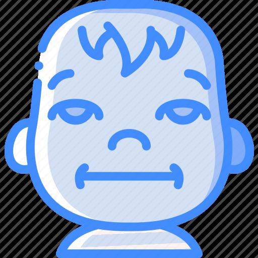 avatars, baby, bored, cartoon, emoji, emoticons icon