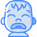 avatars, baby, cartoon, emoji, emoticons, sad