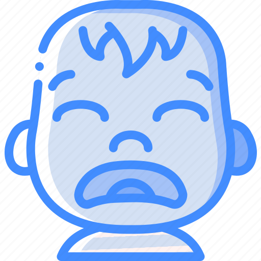 avatars, baby, cartoon, emoji, emoticons, sad icon