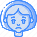 emoticons, avatars, sad, girl, cartoon, emoji
