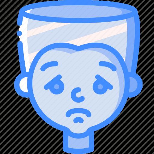 avatars, boy, cartoon, emoji, emoticons, sad icon