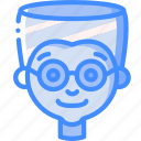 boy, emoticons, avatars, glasses, cartoon, emoji
