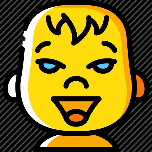 Avatars, baby, cartoon, emoji, emoticons, happy icon - Download on Iconfinder
