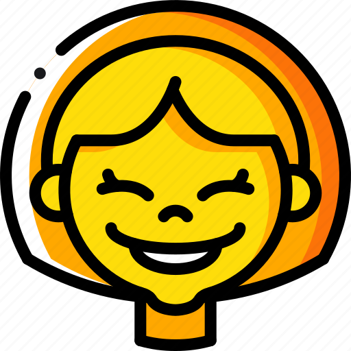 Avatars, cartoon, emoji, emoticons, girl, happy icon - Download on Iconfinder