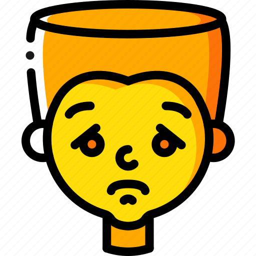 Avatars, boy, cartoon, emoji, emoticons, sad icon - Download on Iconfinder