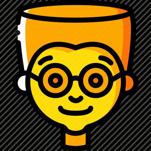 avatars, boy, cartoon, emoji, emoticons, glasses icon