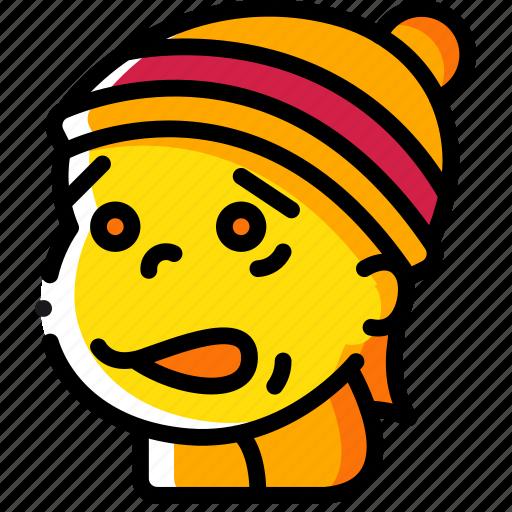 avatars, boy, cartoon, cold, emoji, emoticons icon