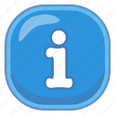 i, info, information icon