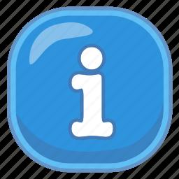 i, info, information icon