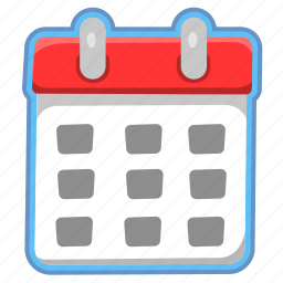 calender, date, day, diary, month, week icon