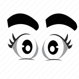 cartoon, eyeball, eyes, looking, watching icon