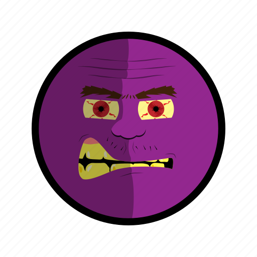 angry face mad purple ugly icon rh iconfinder com mad comic face mad cartoon network face