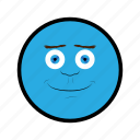 blue, face, happy, nice, smile icon