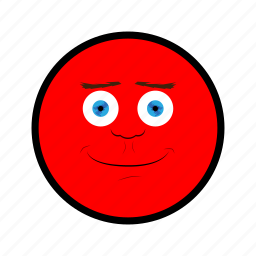 face, happy, nice, red, smile icon
