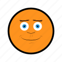 face, happy, nice, orange, smile icon
