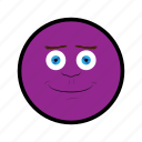 face, happy, nice, purple, smile icon