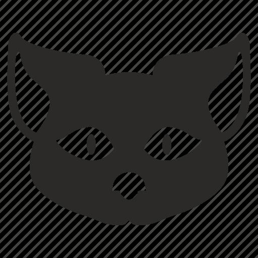 animal, cartoon, cat, head, kitty icon