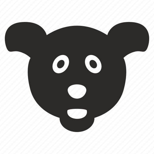 animal, bear, cartoon, funny, head icon