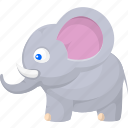 animal, animals, elephant, nature, wild, zoo icon