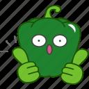 best, capsicum, emoji, emoticon, green, pepper, vegetable