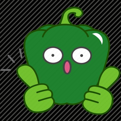 best, capsicum, emoji, emoticon, green, pepper, vegetable icon