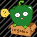 capsicum, emoji, emoticon, green, organic, pepper, vegetable