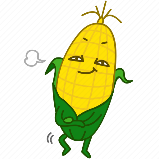 corn, emoji, emoticon, maize, pride, vegetable icon