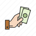 cash, cash on hand, money, payment icon