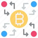 bitcoin, cashless, currency, exchange, money icon