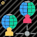 communication, internet, link, network, online icon