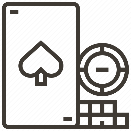 card, casino, chip, gambling, spade icon