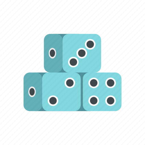 chance, cube, dice, gambling, game, luck, three icon