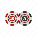 casino, chip, gamble, gambling, game, poker, token icon