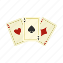 ace, card, gamble, gambling, game, poker, win icon