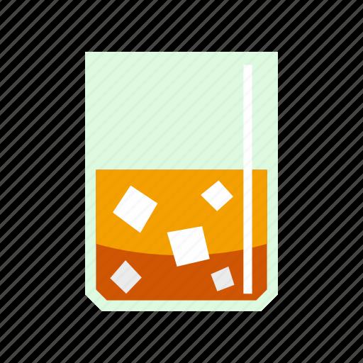 alcohol, brandy, glass, ice, liquor, scotch, whiskey icon
