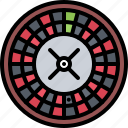 ball, casino, gambling, game, gaming, roulette icon