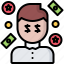 casino, chips, gambling, game, gaming, man, money icon
