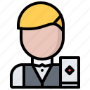 cards, casino, croupier, gambling, game, gaming icon
