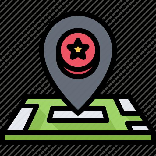 Casino, gambling, game, gaming, location, map, pin icon - Download on Iconfinder