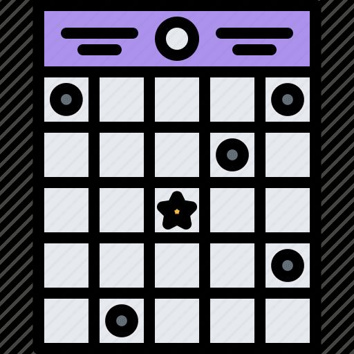 bingo, casino, gambling, game, gaming, ticket icon