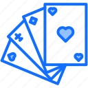 cards, casino, gambling, game, gaming, suit icon