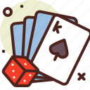 cards, cheat, dice, game, poker icon