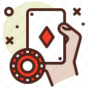 cards, cheat, game, play, poker icon