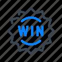 win, casino, fortune, sign, game